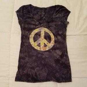 Distressed Blue Peace Shirt